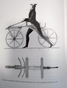 Histoire du vélo - Draisienne - Vlove Cyclologistique