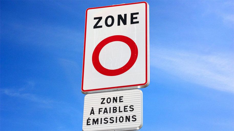 Panneaux ZFE (ZFEm) - Vlove Cyclo-logistique - Expert livraison écologique