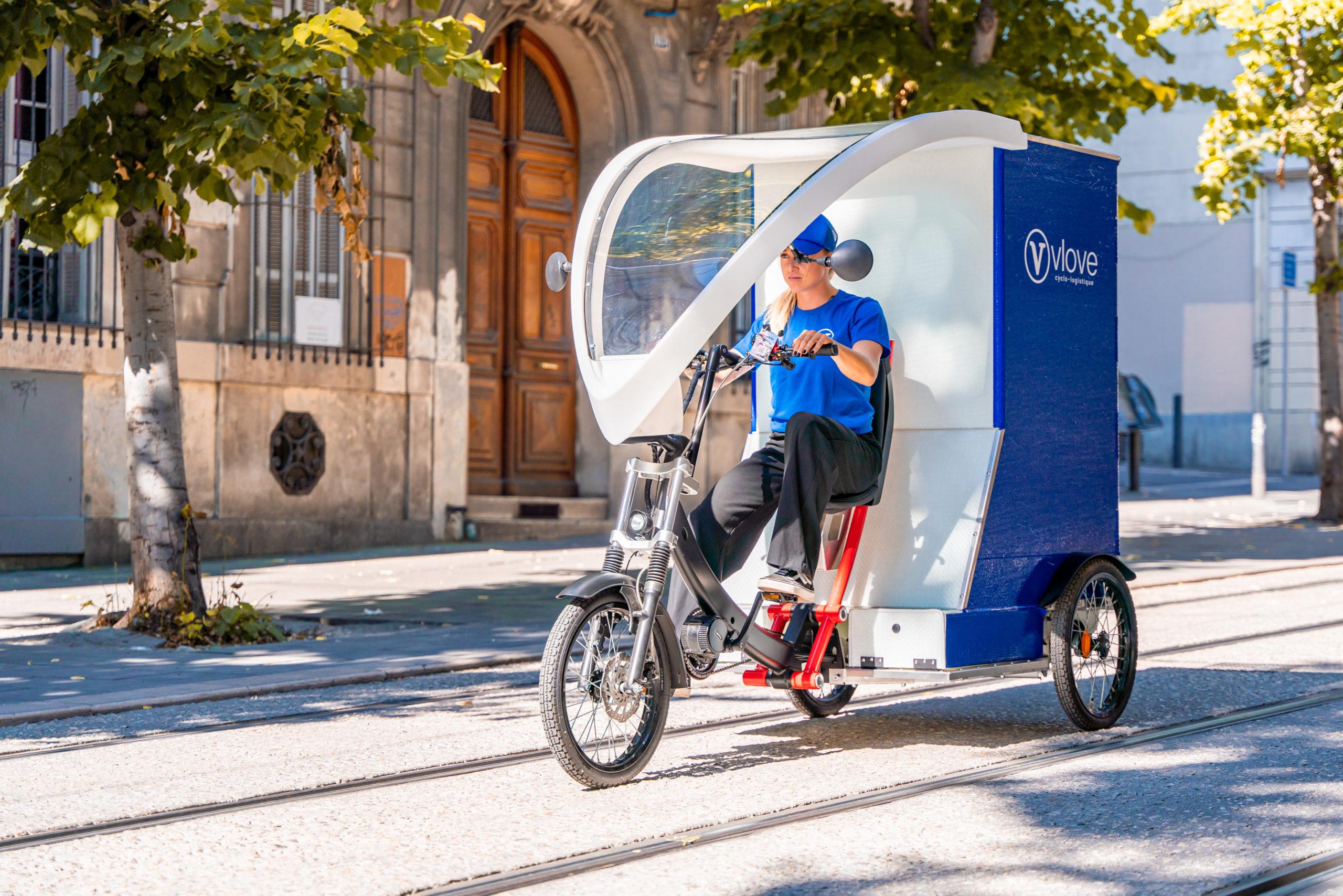 Livraison en vélo-cargo à Aix en Provence