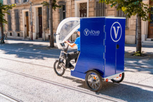 Livraison en vélo-cargo avec Vlove Cyclo-logistique