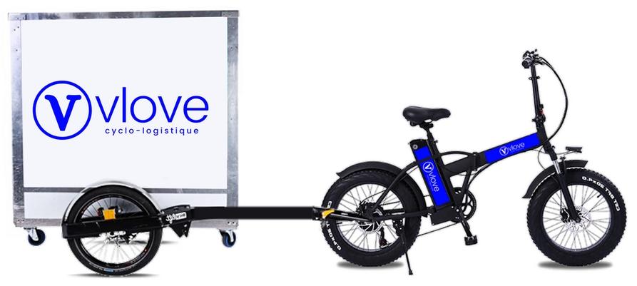 Livraison vélo avec remorque